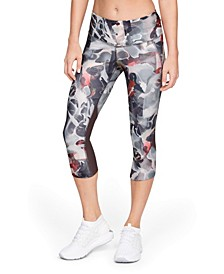 Women's Fly Fast HeatGear® Printed Cropped Running Leggings