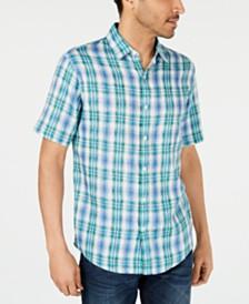Michael Kors Men's Linen Plaid Shirt, Created for Macys