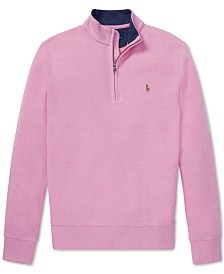 Polo Ralph Lauren Big Boys Cotton Mesh Half-Zip Pullover