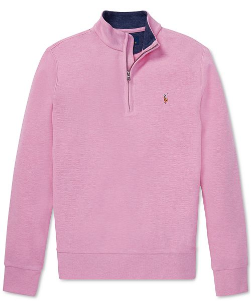 Polo Ralph Lauren Big Boys Cotton Mesh Half-Zip Pullover