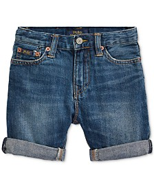 Polo Ralph Lauren Big Boys Cuffed Cotton Denim Shorts