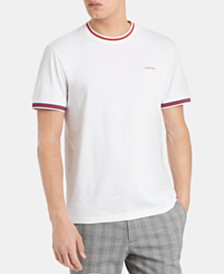 Calvin Klein Men's Contrast Tipped Pima Cotton T-Shirt