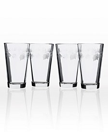 Icy Pine Pint Glass 16Oz - Set Of 4 Glasses