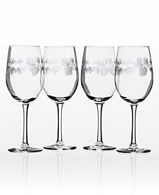 Icy Pine White Wine 12Oz - Set Of 4 Glasses
