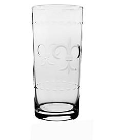 Fleur De Lis Cooler Highball 15Oz - Set Of 4 Glasses