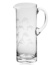 Rolf Glass School Of Dolphin Pitcher 35Oz