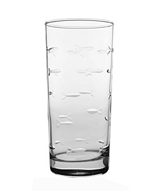 School Of Fish Cooler Highball 15Oz - Set Of 4 Glasses