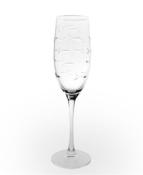 Rolf Glass School Of Fish Flute 8Oz - Set Of 4 Glasses
