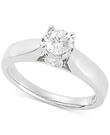 Diamond Solitaire Engagement Ring (5/8 ct. t.w.) in 14k White Gold