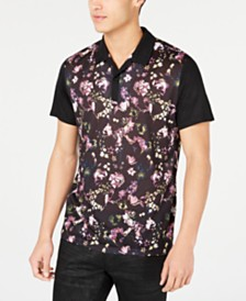 I.N.C. Men's Regular-Fit Floral-Print Polo, Created for Macy's