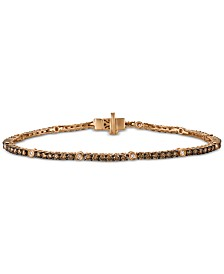 Le Vian Chocolatier® Diamond Bracelet (2-1/2 ct. t.w.) in 14k Rose Gold