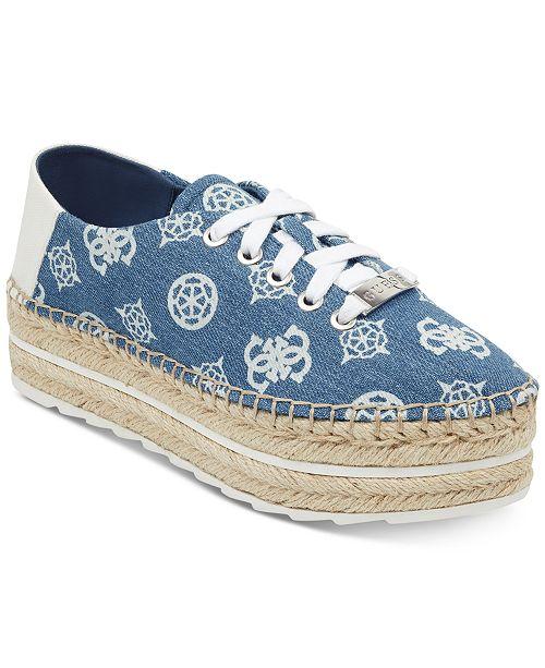 GUESS Women's Venusa Platform Espadrille Sneakers