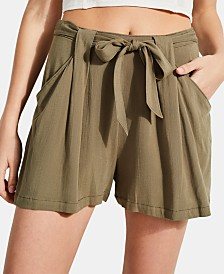 GUESS Skylee Printed Pleated Shorts