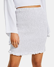 GUESS Trixie Shirred Ruffled Skirt