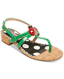 Betsey Johnson Buggy Flat Sandals