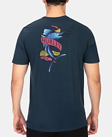Hurley Men's Marlin Logo Graphic T-Shirt