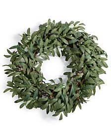 Martha Stewart Collection La Dolce Vita Olive Leaf Artificial Wreath, Created for Macy's