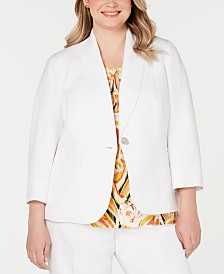 Kasper Plus Size One-Button Blazer