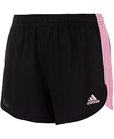 adidas Toddler Girls Three-Stripe Colorblocked Shorts