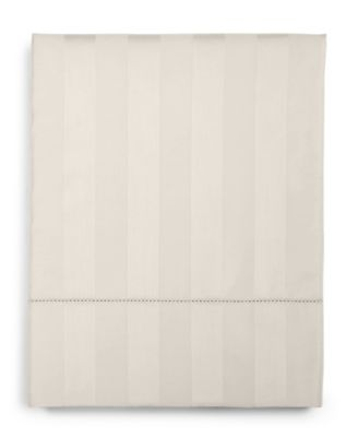 Ivory Stripe Twin Flat Sheet, 550 Thread Count 100% Supima Cotton, Created for Macy's