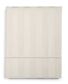 CLOSEOUT! Ivory Stripe Queen Flat Sheet, 550 Thread Count 100% Supima Cotton, Created for Macy's