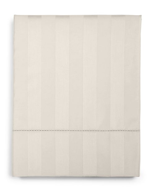 Charter Club  CLOSEOUT! Ivory Stripe Full Flat Sheet, 550 Thread Count 100% Supima Cotton, Created for Macy's
