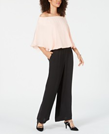 Alfani Petite Satin Bubble-Hem Top, Created for Macy's