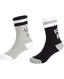 Nike Little & Big Boys 2-Pack Air Logo Crew Socks