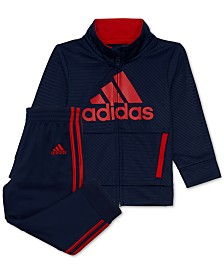 adidas Little Boys 2-Pc. Logo Track Jacket & Pants Set