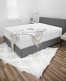 "CLOSEOUT! Luxury iCOOL 4.5"" Gel-Infused Memory Foam Queen Mattress Topper"
