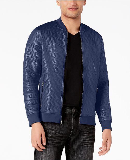 INC International Concepts I.N.C. Men's Slick Jacquard Jacket, Created for Macy's