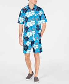 Club Room Men's Delancy Floral Shirt & Shorts Separates, Created for Macy's
