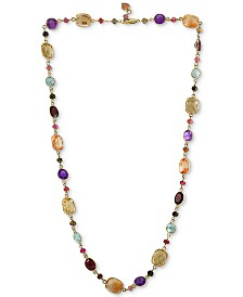 "EFFY® Mutli-Gemstone 23"" Statement Necklace (96-3/8 ct.t.w.) in 14k Gold"