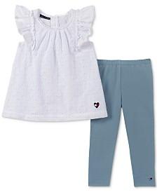 Tommy Hilfiger Baby Girls 2-Pc. Eyelet Tunic & Leggings Set