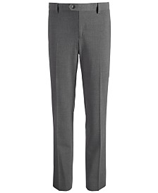 DKNY Big Boys Stretch Gray Dress Pants