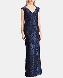 Lauren Ralph Lauren Floral Tulle Gown