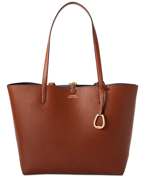 72198a1b8e Lauren Ralph Lauren Merrimack Reversible Faux Leather Tote   Reviews ...