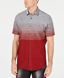 INC Men's Zeddie Ombré Stripe Short-Sleeve Shirt, Created for Macy's