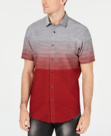 I.N.C. Men's Zeddie Ombré Stripe Short-Sleeve Shirt, Created for Macy's