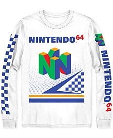 Nintendo 64 Men's Long-Sleeve Graphic T-Shirt