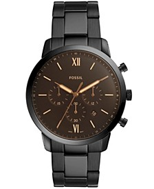 Mens Neutra Chrono black stainless steel bracelet