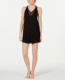 May Lace-Trim Knit Chemise Nightgown