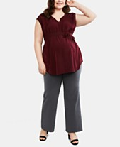 Motherhood Maternity Plus Size Bootcut Dress Pants 766b961a56b0