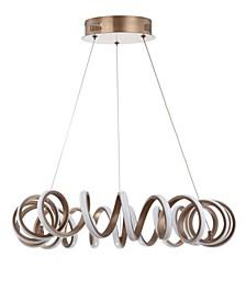 Cursive Adjustable Spiral Integrated LED Metal Chandelier Ceiling Light