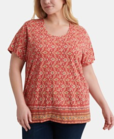 Lucky Brand Plus Size Printed T-Shirt