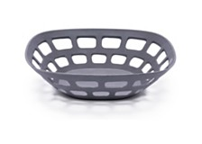"Bamboozle 11 1/2"" Graphite Fruit Basket"