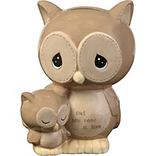 Owl You Need Is Love Ceramic Piggy Bank  183402
