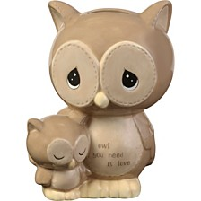 Precious Moments Owl You Need Is Love Ceramic Piggy Bank  183402