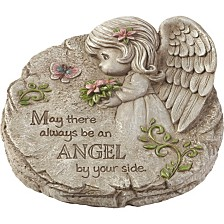 Precious Moments May There Always Be An Angel By Your Side Memorial Resin Garden Stone 183424