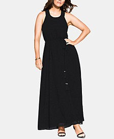 Trendy Plus Size Halter Bliss Maxi Dress